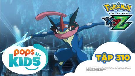 Pokémon S19 - Tập 310: Satoshi - Gekkouga và Yukinooh Mega! Phi tiêu sóng nước khổng lồ xuất kích!