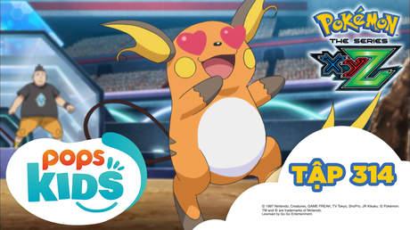 Pokémon S19 - Tập 314: Jukain Mega quyết đấu Raichu! Thu thập kinh nghiệm