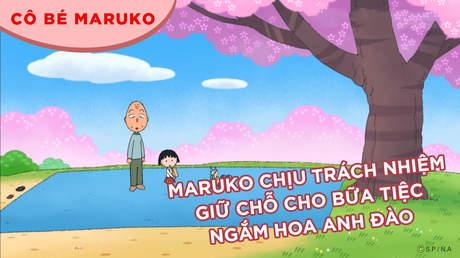 Cô bé Maruko - Tập 23: Maruko chịu trách nhiệm giữ chỗ cho bữa tiệc ngắm hoa anh đào