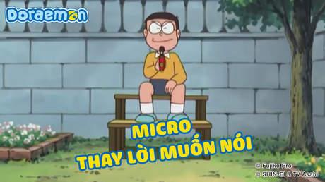 Doraemon - Tập 185: Micro thay lời muốn nói