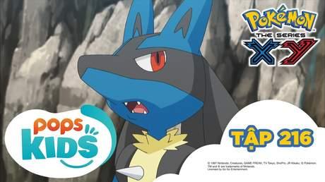 Pokémon S17 - Tập 216: Lucario và Burshamo đối đầu trong hang tập luyện