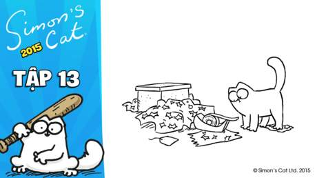 Simon's cat 2015 - Tập 13: Sticky tape