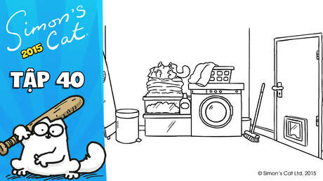Simon's cat 2015 - Tập 40: Washed up